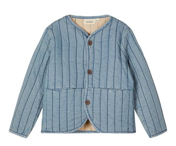 Lil' Atelier Ingrid Short Loose Jacket light blue denim
