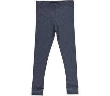 MarMar leggings Blue - blå med rib